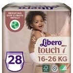 Подгузники-трусики Libero Touch 7 для детей 16-26кг 28шт