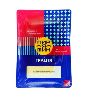 Сыр Пирятин Грация полутвердый нарезанный ломтиками 20% 150г - купить, цены на Фуршет - фото 1