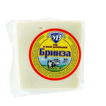 Сыр Брынза рассольный мягкий 40% фасованный