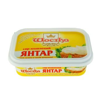 Сыр плавленый Шостка Янтарь 55% 180г - купить, цены на Фуршет - фото 1
