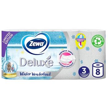 Туалетная бумага Zewa Deluxe Delicate Care белая 3-х слойная 8шт - купить, цены на Novus - фото 1