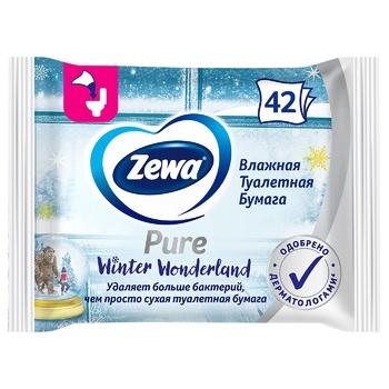 Туалетная бумага Zewa Pure влажная 42шт