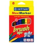 Фломастеры Centropen Brush Maxi цветные 8шт