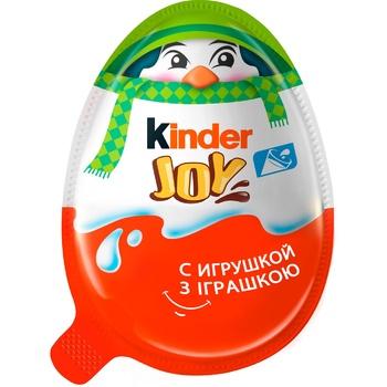 Яйцо Kinder Joy Новогоднее шоколадное с хрустящими вафельными шариками с игрушкой 20г - купить, цены на Восторг - фото 3