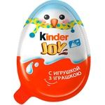 Яйцо Kinder Joy Классический с двухслойной пастой на основе молока и какао и вафельными шариками покрытыми какао с молочным кремом внутри и с игрушкой 20г - купить, цены на Ашан - фото 2