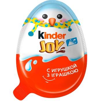 Яйцо Kinder Joy Новогоднее шоколадное с хрустящими вафельными шариками с игрушкой 20г - купить, цены на Восторг - фото 2