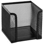 Куб для бумаги Axent круглая металлический черный 100x100x100мм