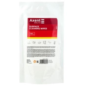 Серветки вологі Axent для оргтехніки 100шт - buy, prices for MegaMarket - photo 1