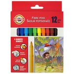 Koh-i-Noor Set of markers 7710 12 colors