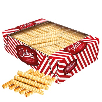 Delicia Tubules Waffles with Taste of Baked Milk 1,3kg