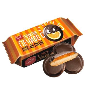 Печенье Деліція со вкусом апельсина сдобное 135г - купить, цены на Ашан - фото 1