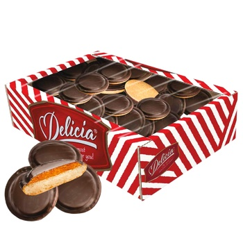 Delicia Cookies in Dark Chocolate with Orange Flavor 500g - buy, prices for Tavria V - image 1