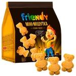 Печиво Friendy Міні – Мішутка здобне з молочною глазур'ю 100г