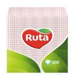 Paper napkins Ruta pink 1-ply 24*24cm 100pcs