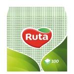 Серветки Ruta зелені паперові 1-шарові 24*24см 100шт