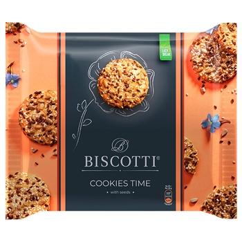 Печенье Biscotti Cookies time с семечками 180г