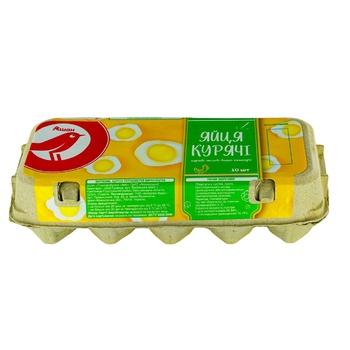 Яйця Ашан С0 10шт - купити, ціни на Ашан - фото 1