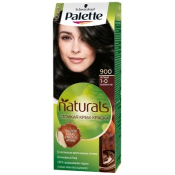 Крем-краска для волос Palette Naturals 1-0 (900) Черный 110мл