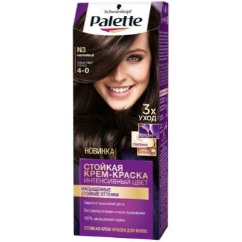 Крем-краска для волос Palette Интенсивный цвет 4-0 (N3) Каштановый 110мл