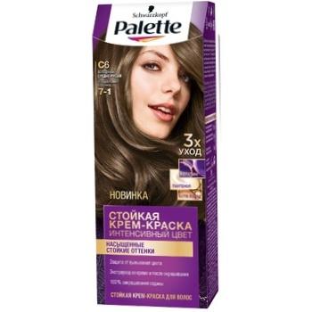 Крем-краска для волос Palette Интенсивный цвет 7-1 (C6) Холодный средне-русый 110мл