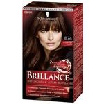 Крем-краска для волос Brillance 874 Бархатистый каштан 142,5мл