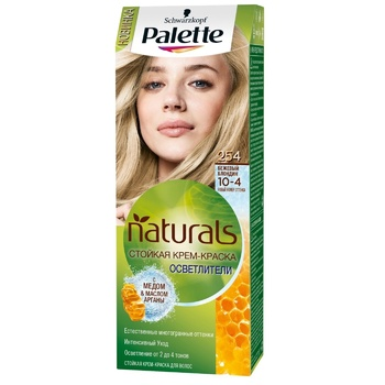 Palette Naturals Color 10-4 (254) Beige Blonde Hair Dye 110ml - buy, prices for Auchan - photo 1