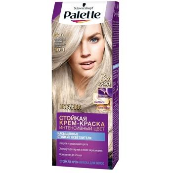 Краска для волос Palette интенсивный цвет 10-1 (C10) серебрянный блондин 110мл