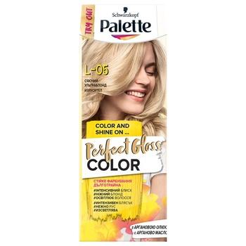 Краска для волос с аргановым маслом Palette Perfect Gloss Color L-05 Сияющий ультраблонд 70мл
