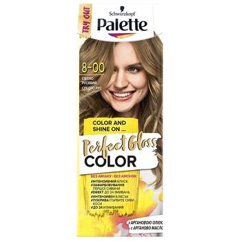 Краска для волос с аргановым маслом Palette Perfect Gloss Color 8-00 Светло-русый 70мл