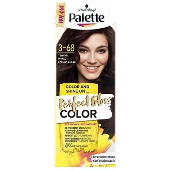 Краска для волос с аргановым маслом Palette Perfect Gloss Color 3-68 Темный мокко 70мл