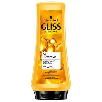 Бальзам Gliss Kur Oil Nutritive для сухих поврежденных волос с секущимися кончиками 200мл - купить, цены на Ашан - фото 4
