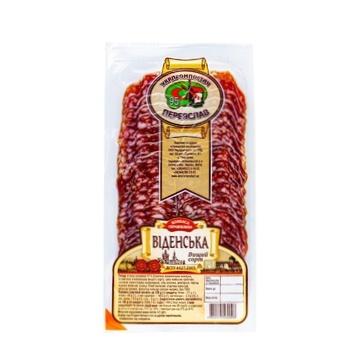 Колбаса Укрпромпостач-95 Венская сыровяленая нарезка 80г - купить, цены на Ашан - фото 2