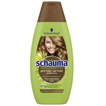 Шампунь Schauma Уход и Детокс для волос с жирными корнями и сухими кончиками 400мл