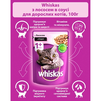 Whiskas With Salmon In Sause For Adult Cats Food - buy, prices for EKO Market - photo 2