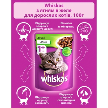 Whiskas With Lamb Meat In Jelly For Cats Food - buy, prices for Tavria V - image 6