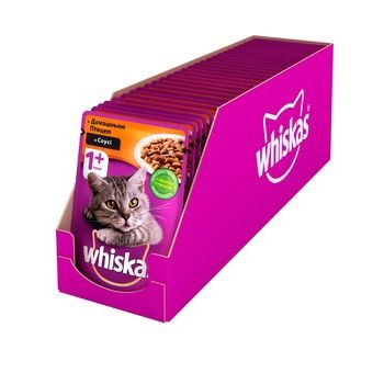 Whiskas Feed for Adult Cats with Poultry in Sauce 100g - buy, prices for CityMarket - photo 4
