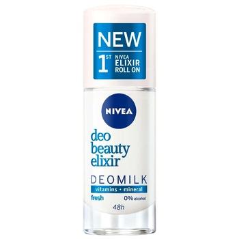 Дезодорант Nivea Deo Beauty Elixir Deomilk Fresh для женщин шариковый 40мл