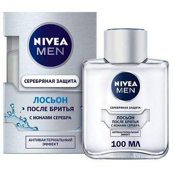 Лосьйон Nivea Men Срібний захист антибактеріальний після гоління 100мл - купити, ціни на Восторг - фото 1