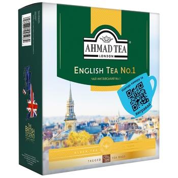 Чай черный Ахмад Английский №1 пакетированный 100х2г