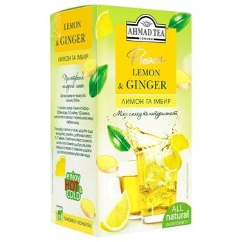 Травяной напиток Ахмад Лимон & Имбирь в конвертах 20х2г