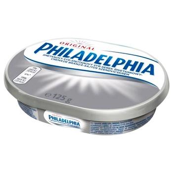 Сыр мягкий Kraft Foods Филадельфия оригинальный 69% 125г - купить, цены на Восторг - фото 1