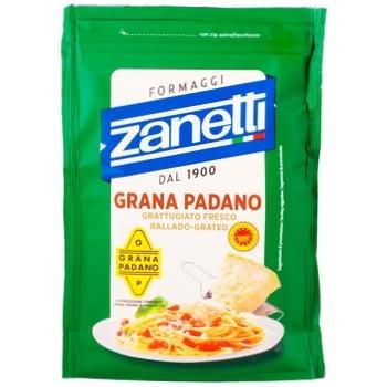 Сыр Zanetti Грана Падано твердый 32% 200г - купить, цены на Ашан - фото 1