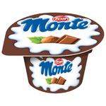 Десерт Zott Monte молочный с шоколадом и лесными орехами 13,3% 150г