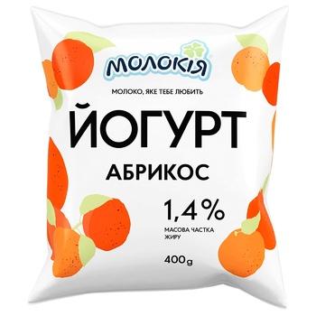 Molokiya Apricot Yogurt 1.4% 400g - buy, prices for Auchan - photo 1