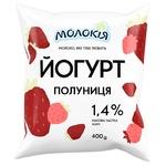 Йогурт Молокія Клубника питьевой 1.4% 400г