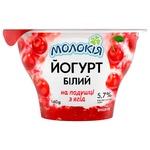 Йогурт Молокія Белый Вишня на подушке из ягод 5,7% 140г
