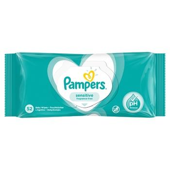 Cалфетки Pampers Sensitive 52шт - купить, цены на МегаМаркет - фото 7