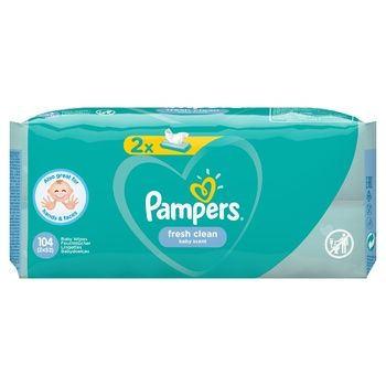 Pampers Fresh Clean Wipes 2х52pcs - buy, prices for CityMarket - photo 7