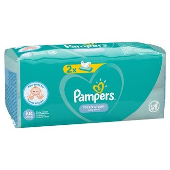 Pampers Fresh Clean Wipes 2х52pcs - buy, prices for CityMarket - photo 8