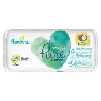 Салфетки Pampers Pure Coconut 84шт - купить, цены на Ашан - фото 5